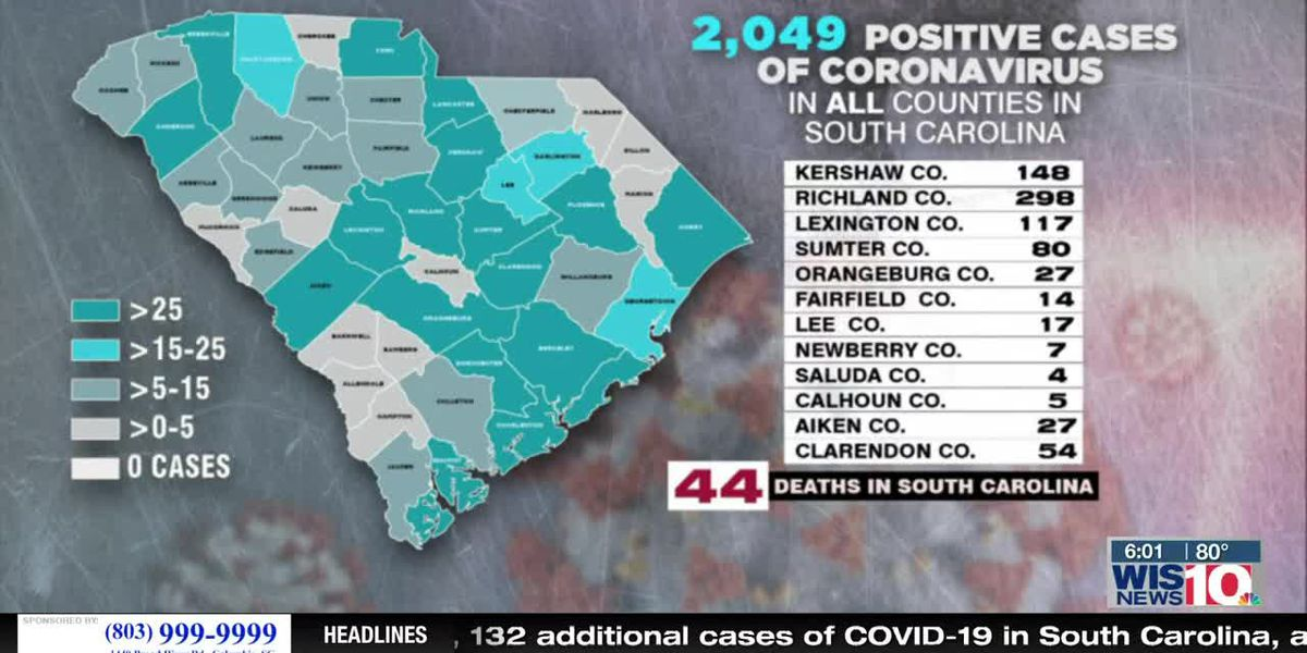 4 new deaths, 132 additional cases of COVID-19 in South Carolina, according to DHEC