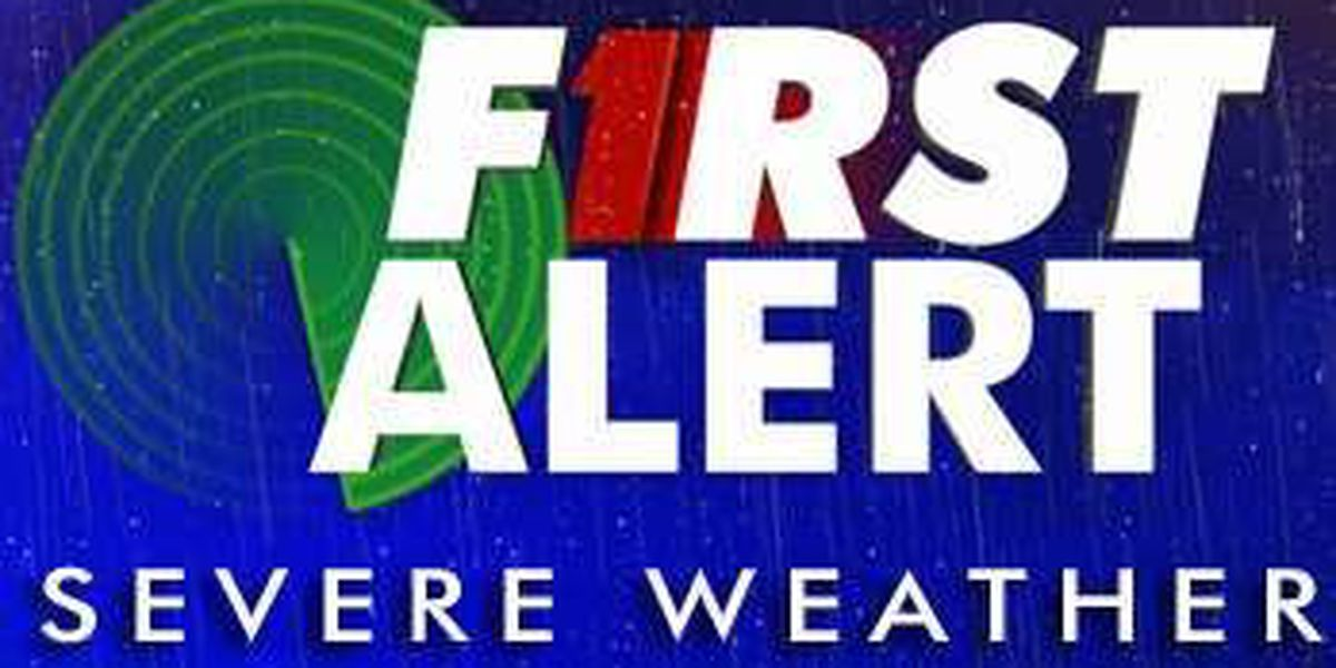 Severe Thunderstorm Watch issued until 10 p.m.