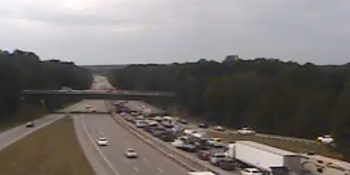 Traffic clear after truck fire on I-20 West near I-77 interchange