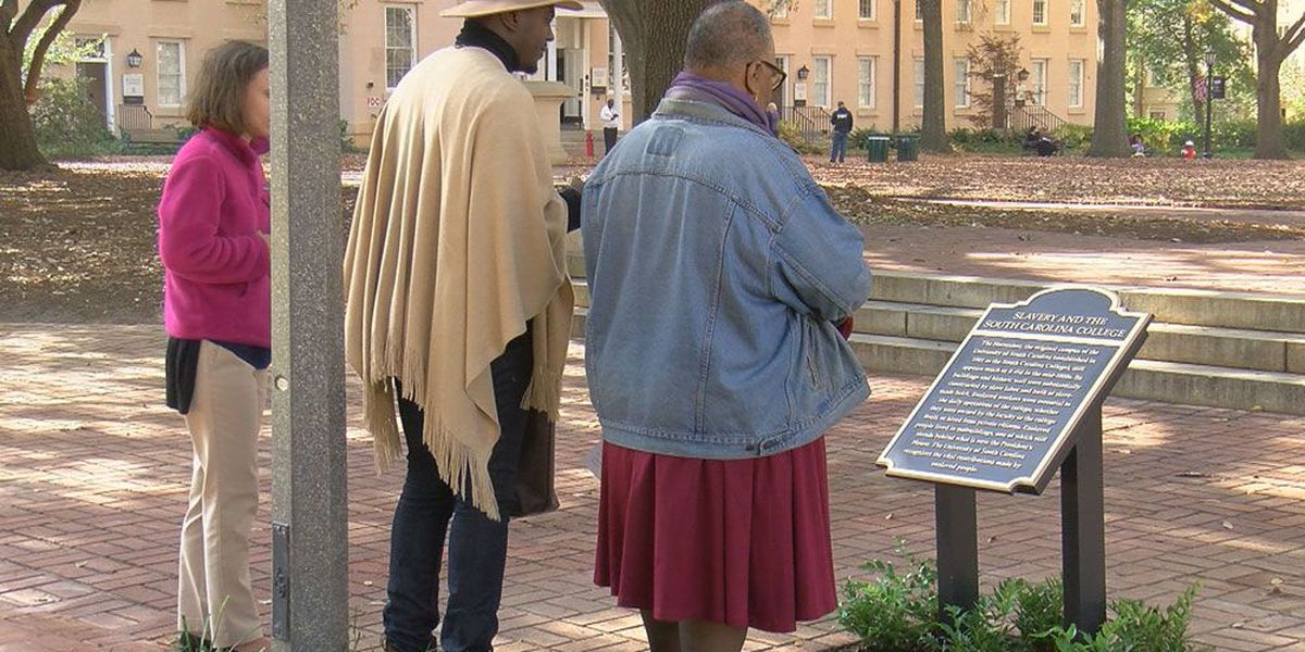 USC unveils 2 plaques dedicated to contributions made by slaves to build campus