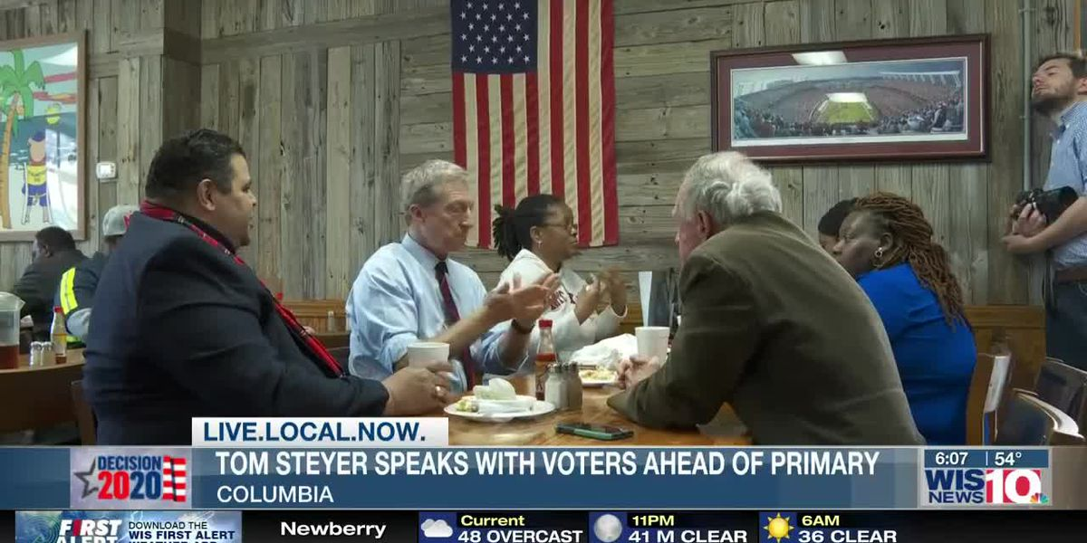 Tom Steyer makes final pitch to voters in the Midlands