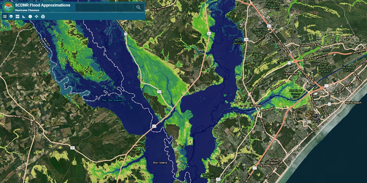 SCDNR online map looks to show potential flooding