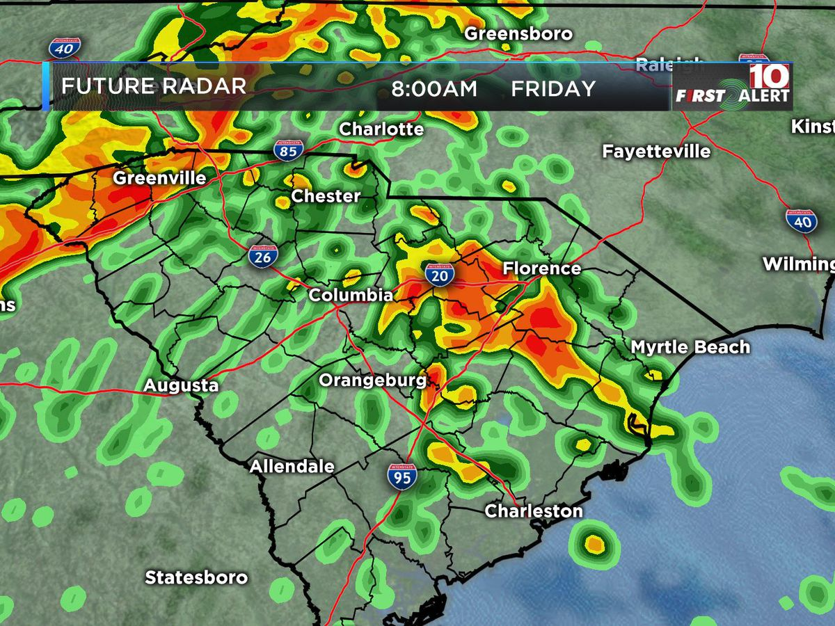 FIRST ALERT: Alert Days posted for widespread rain coming to the Midlands