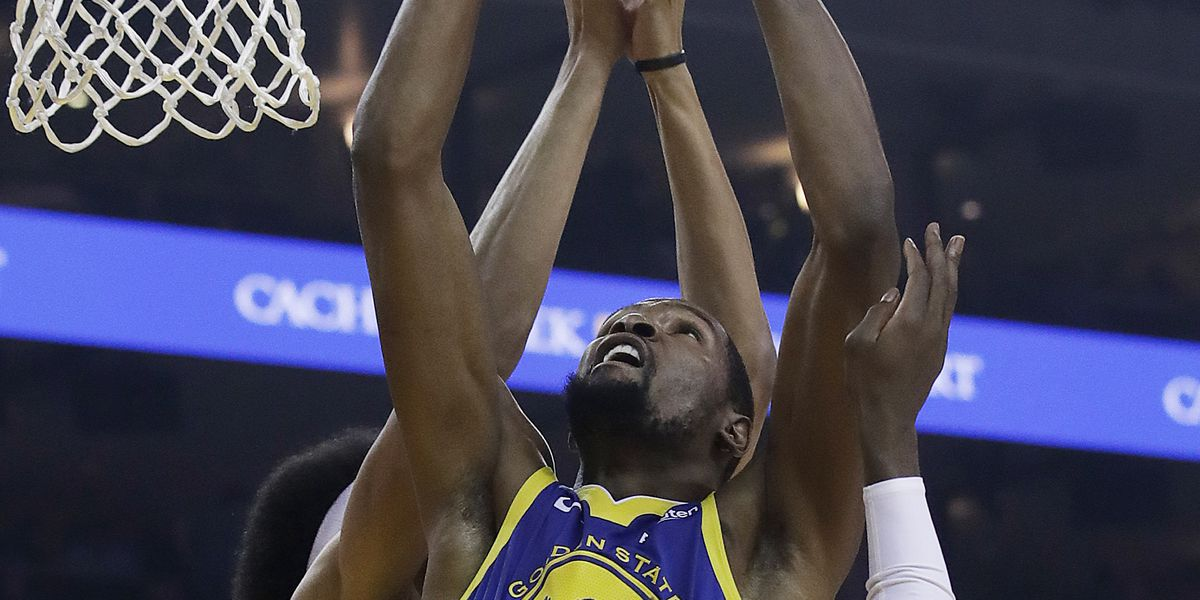 Durant's double-double lifts Warriors past Nets 116-100