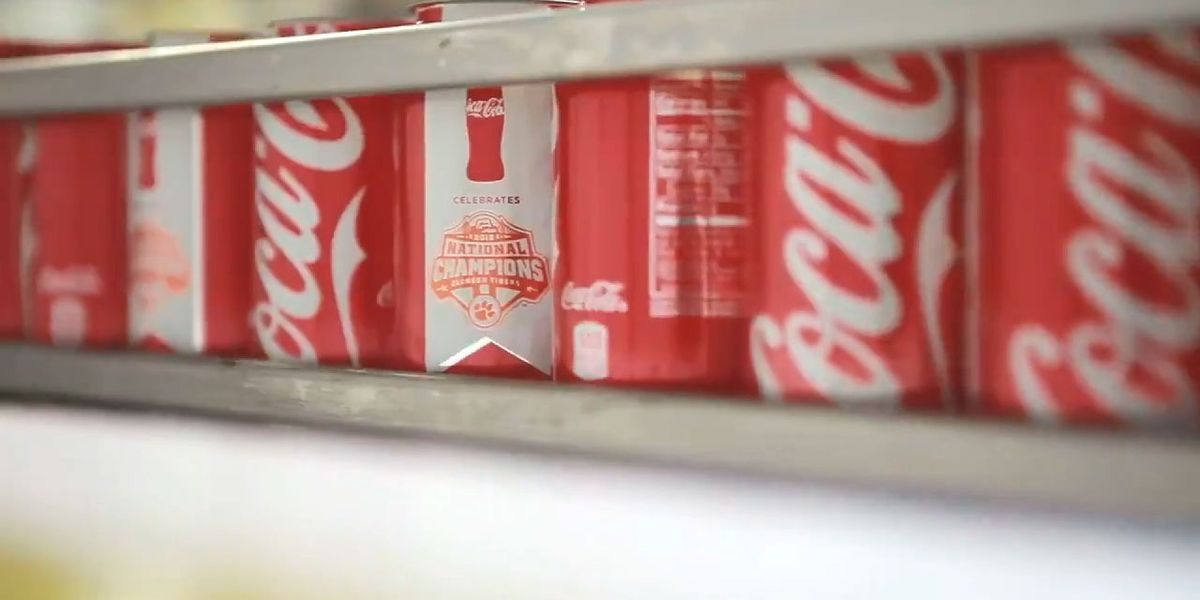 Commemorative Clemson Coca-Cola championship cans headed to South Carolina
