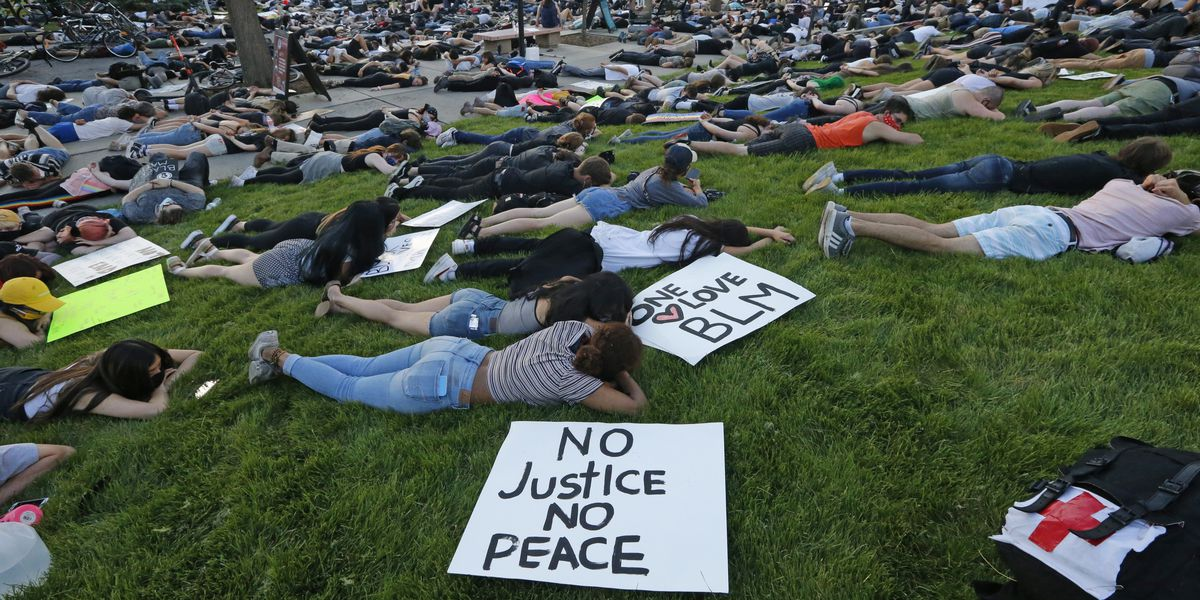 Protests large but peaceful after new charges in Floyd case