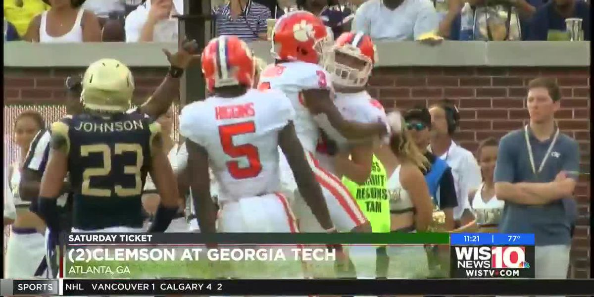 Lawrence throws 4 TDs, No. 3 Clemson routs Ga Tech 49-21