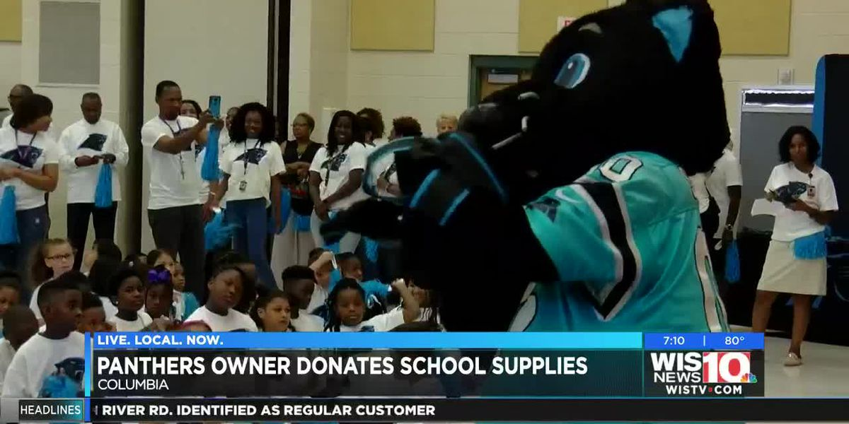 Panthers donate backpacks, supplies to Midlands school district