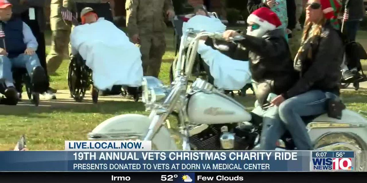 Motorcycle ride brings holiday cheer and presents to Midlands veterans