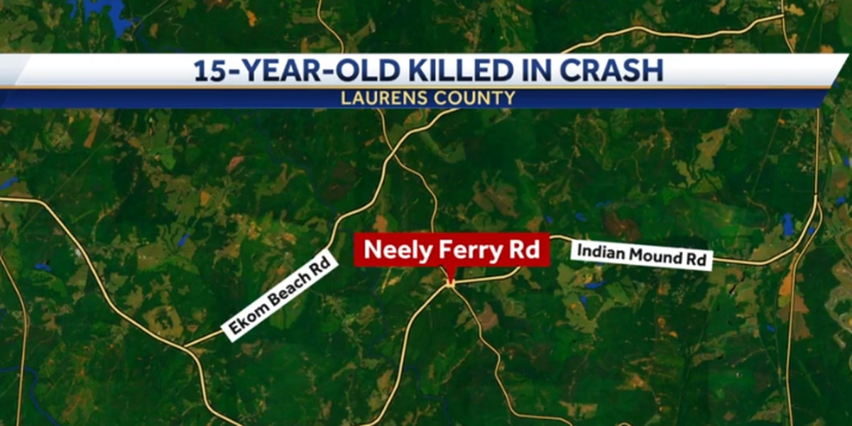 15-year-old dies 5 days after crash, coroner says