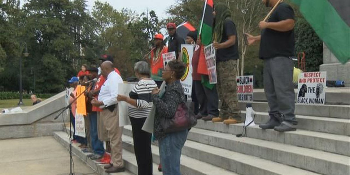 Black Lives Matter protest Spring Valley H.S. incident at State House