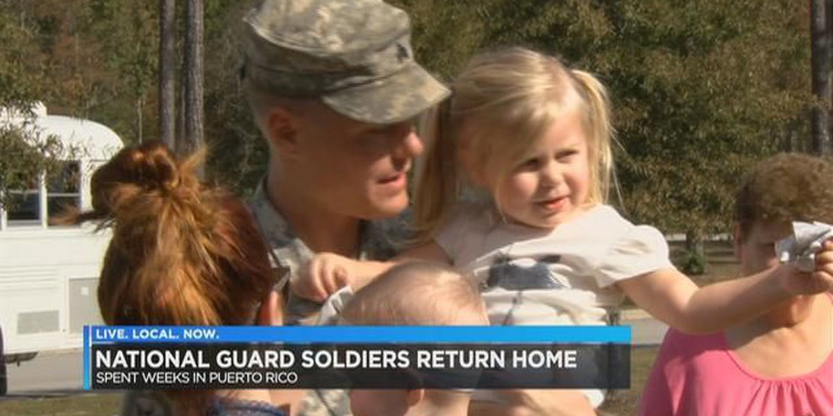 SC National Guardsmen return home from Puerto Rico hurricane relief
