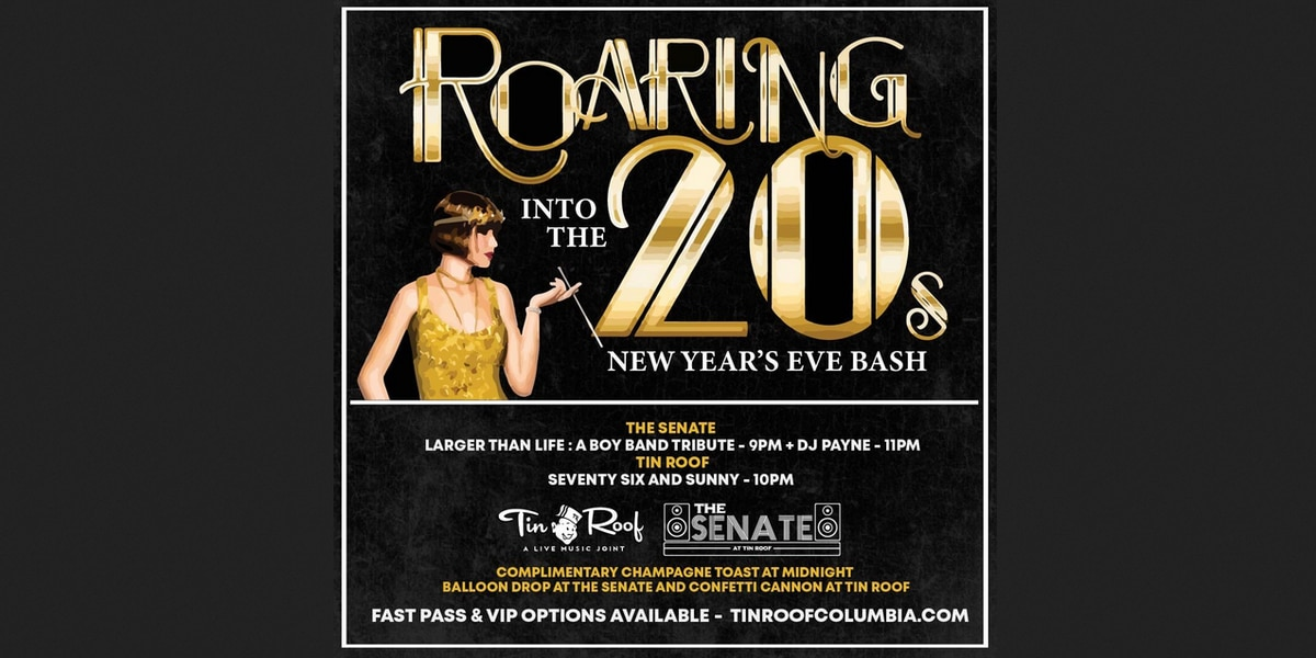 Tin Roof to host Roaring '20s New Year's Eve party