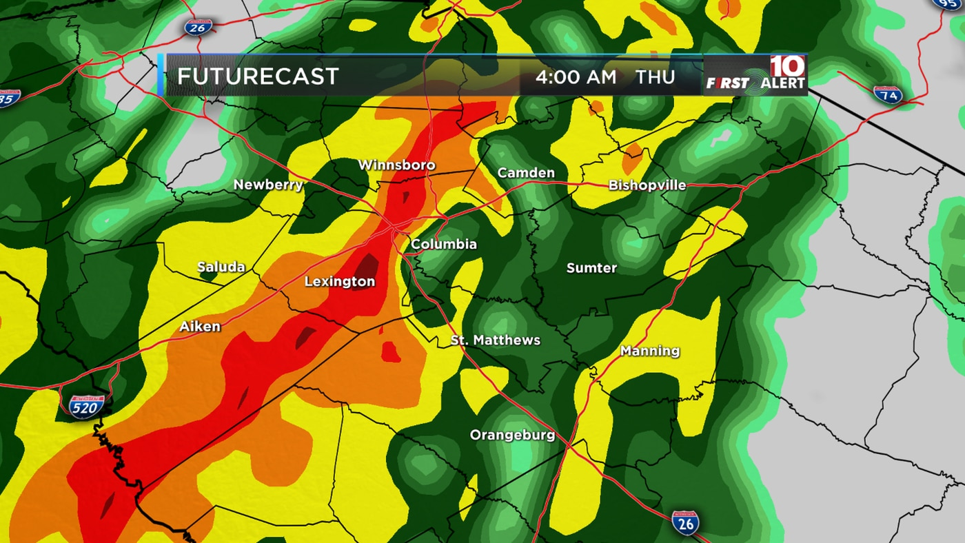 First Alert Forecast: Tracking heavy rain, gusty winds and cooler temps