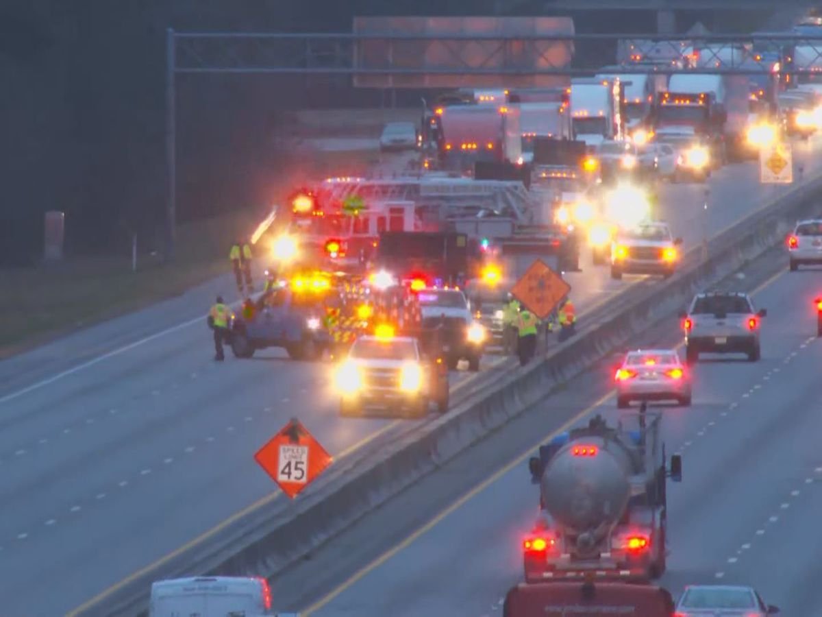 I-20 East clear after several early-morning backups