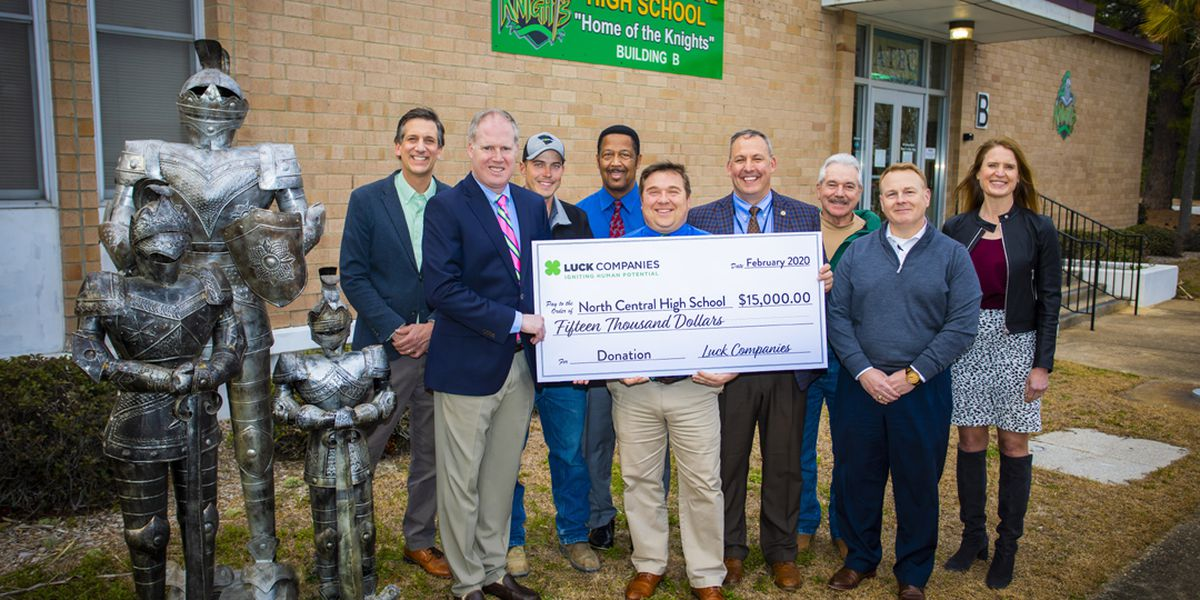 Company donates $15,000 to help rebuild North Central High after tornado