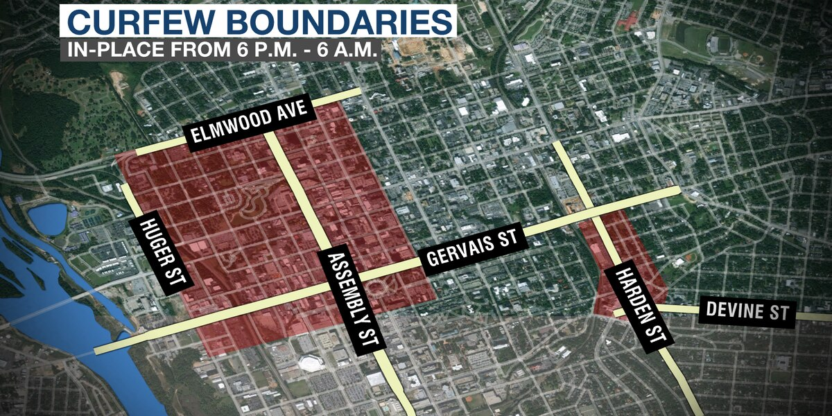 Columbia curfew in effect in the Vista extended to Five Points