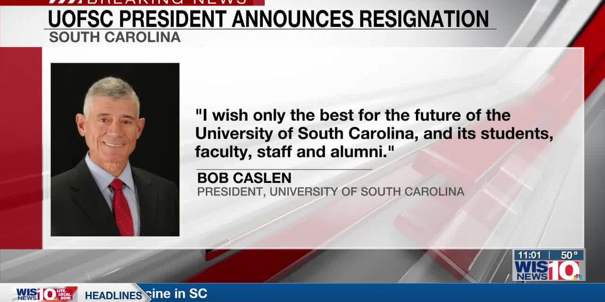 UofSC president announces resignation, effective May 13