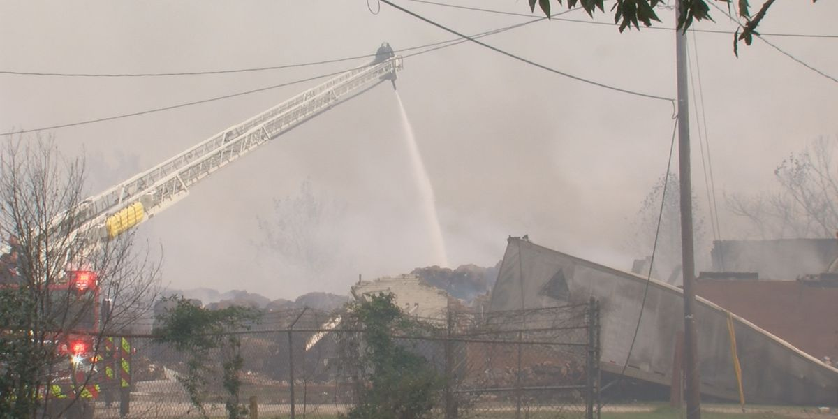 Fire crews still working to put out massive fire at Sumter warehouse