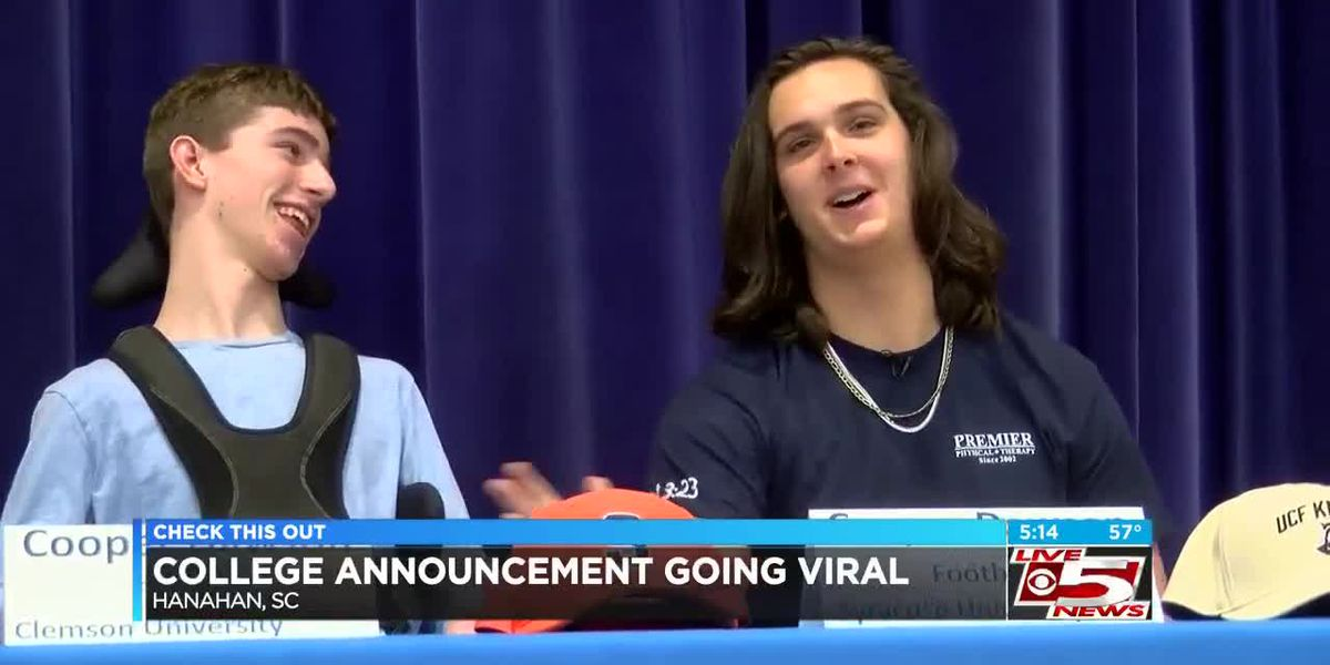 VIDEO: Hanahan's Dawson allows friend to announce his choice at signing event