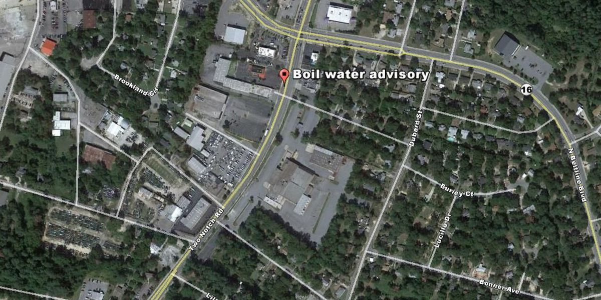 Boil advisory issued for water customers on Two Notch Road