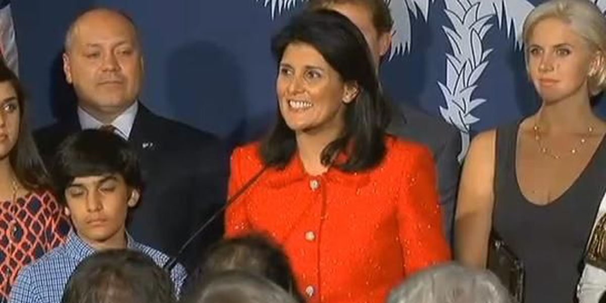 FOUR MORE YEARS: Gov. Nikki Haley easily wins re-election