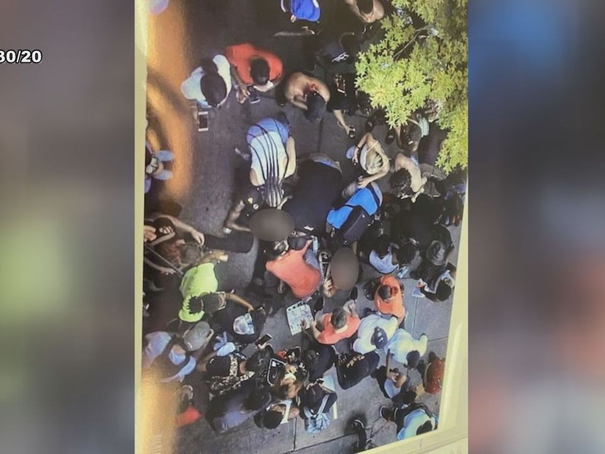 Witness to violent punch during Columbia protest helps the victim to safety