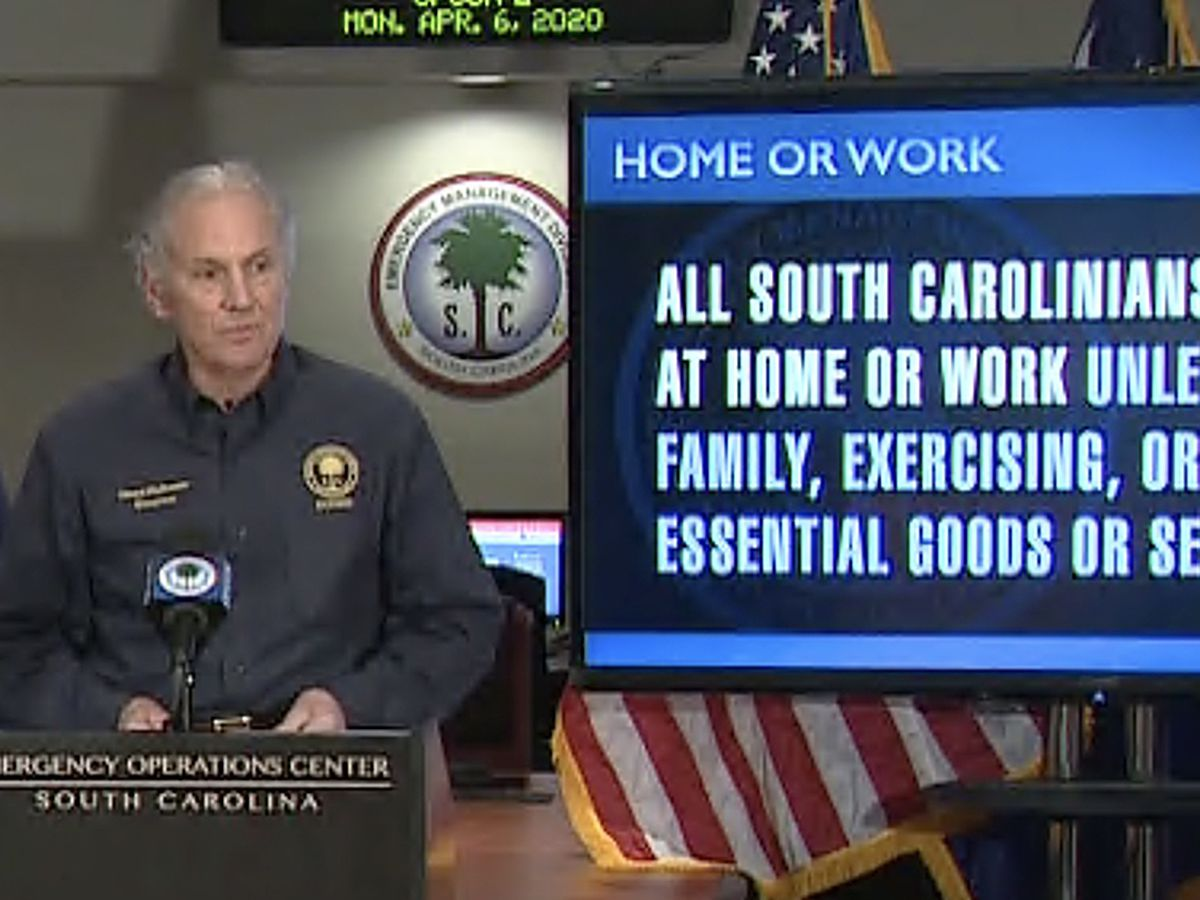 S.C. 'home or work' order takes effect, police tasked with enforcing it