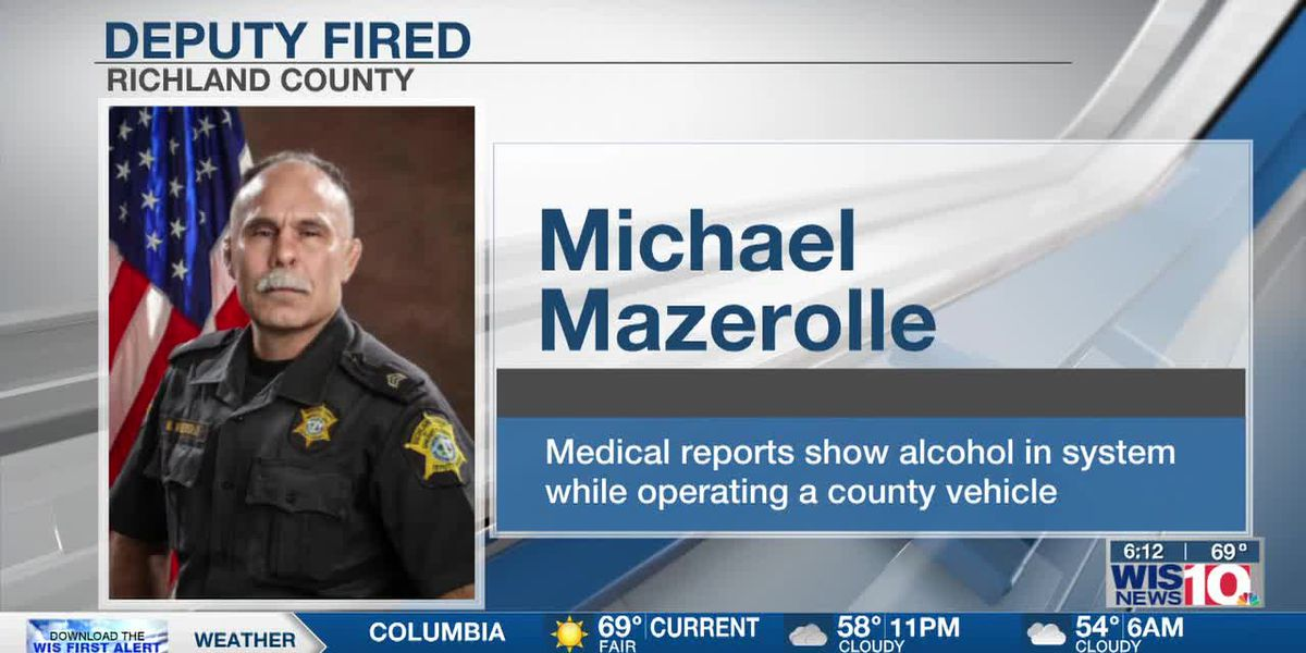Deputy terminated after report reveals he had alcohol in his system while operating county vehicle