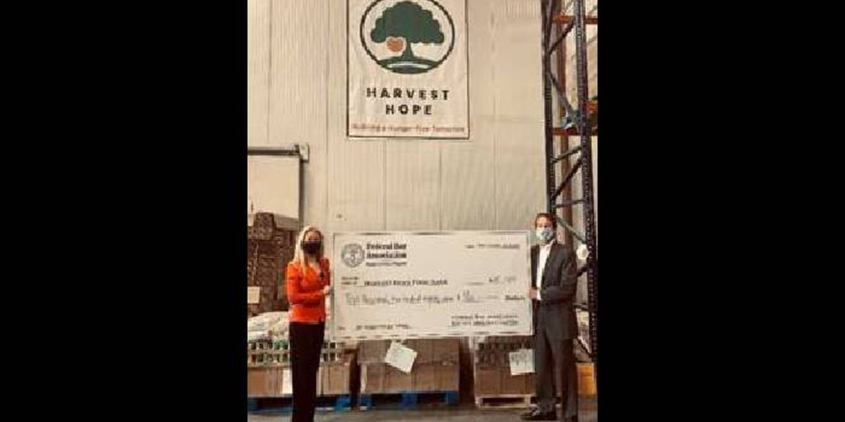 SC Federal Bar Association donates $10,000 to food bank