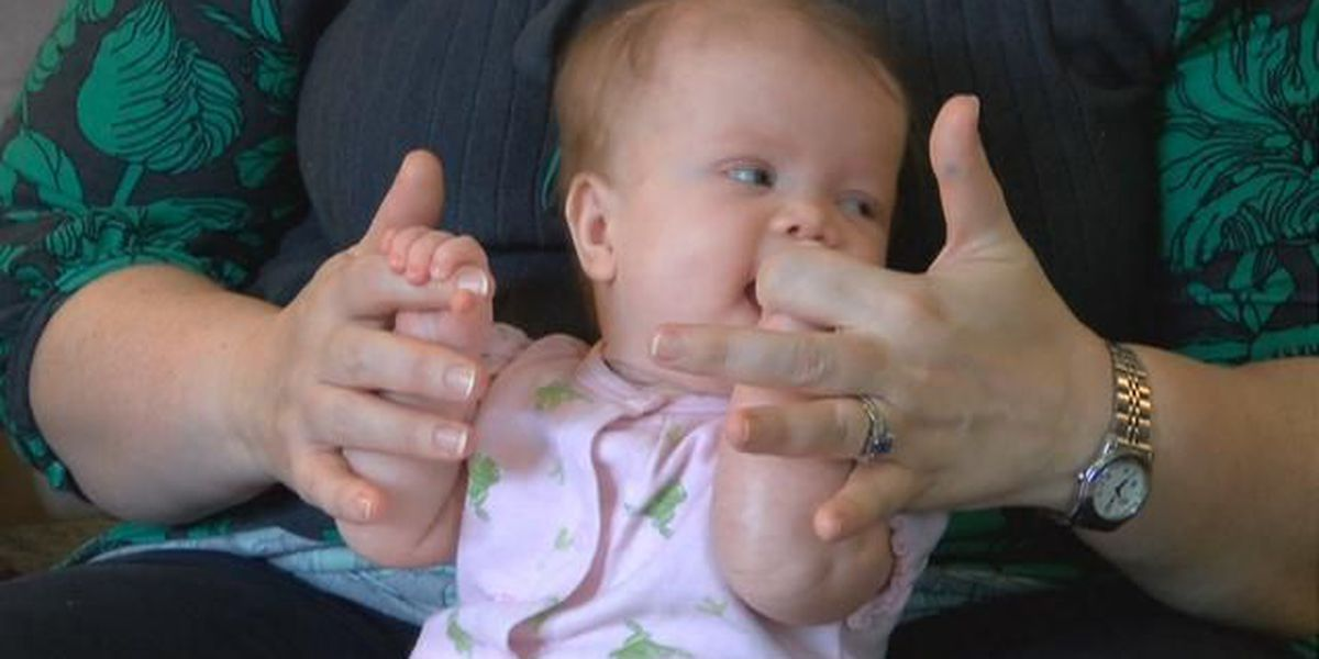 Baby with rare disorder benefits from Midlands nonprofit