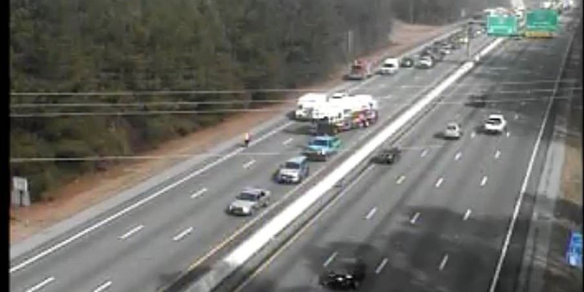 Lanes back open following accident on I-26 EB