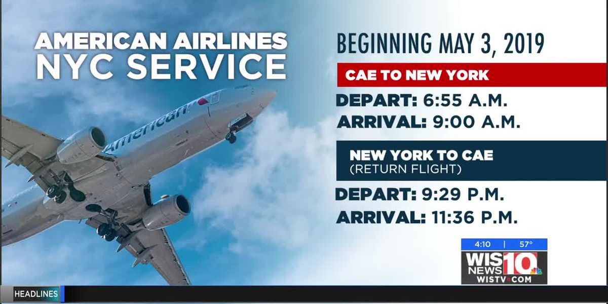 American Airlines will offer flight from Columbia Metropolitan Airport to New York in 2019
