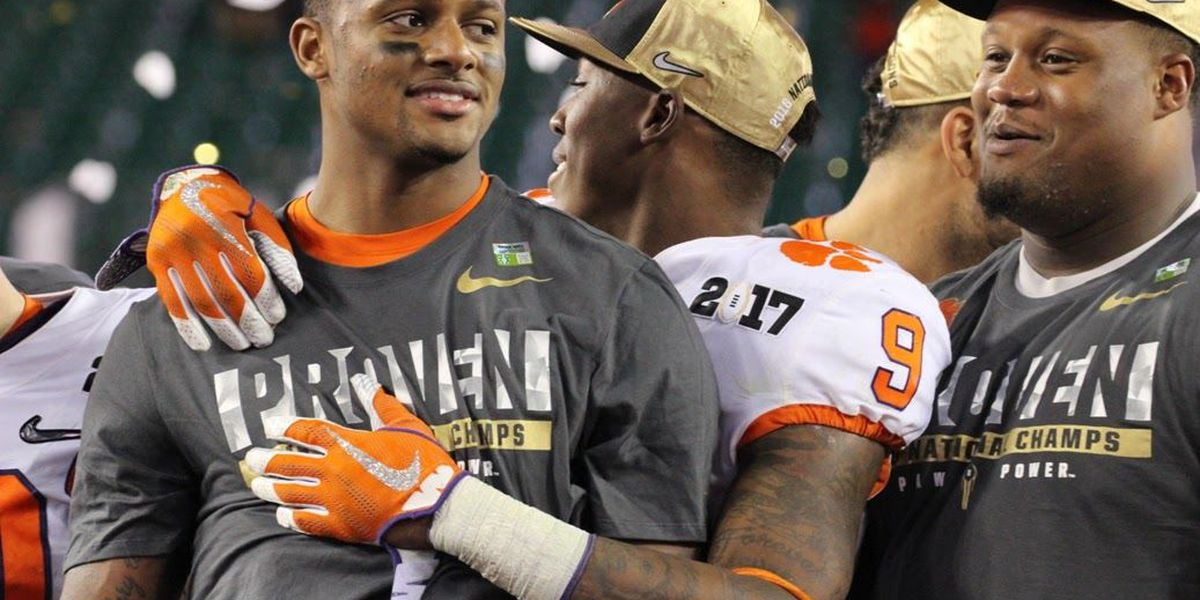 Clemson's Watson ends collegiate career his way with exclamation point