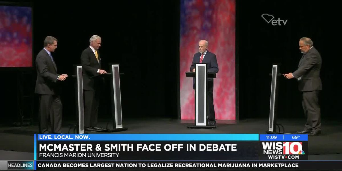 McMaster and Smith face off in first of two televised gubernatorial debates