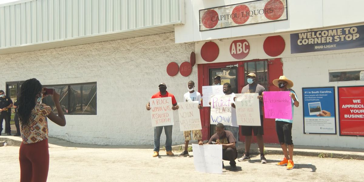 Daily protests expected to continue until business owner, accused of assault and using racial slur, is out of business