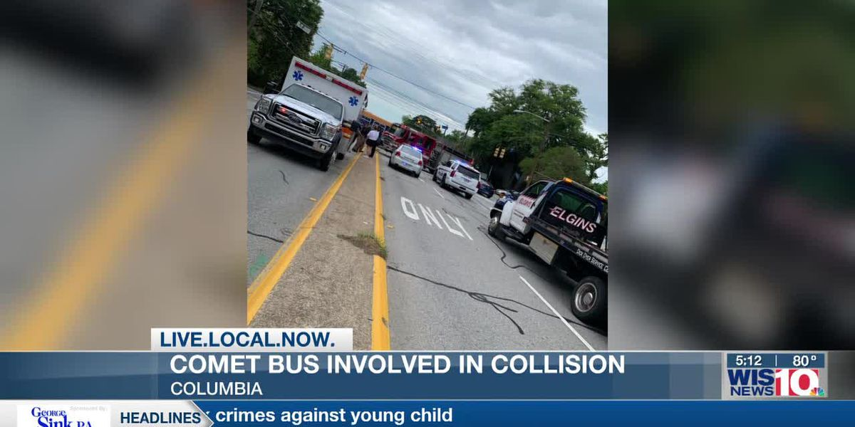 Injuries reported during Comet bus collision in Columbia