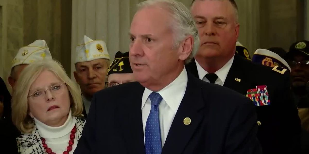 WATCH: Gov. McMaster announces statewide veterans affairs cabinet agency