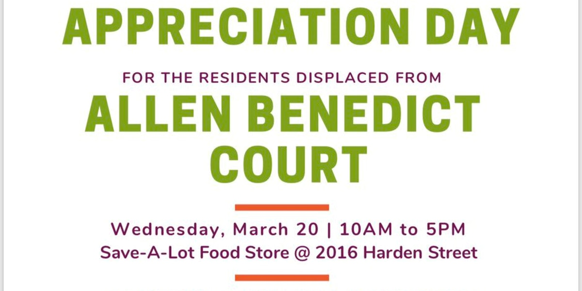 Former Allen Benedict Court residents to receive free food boxes Wednesday