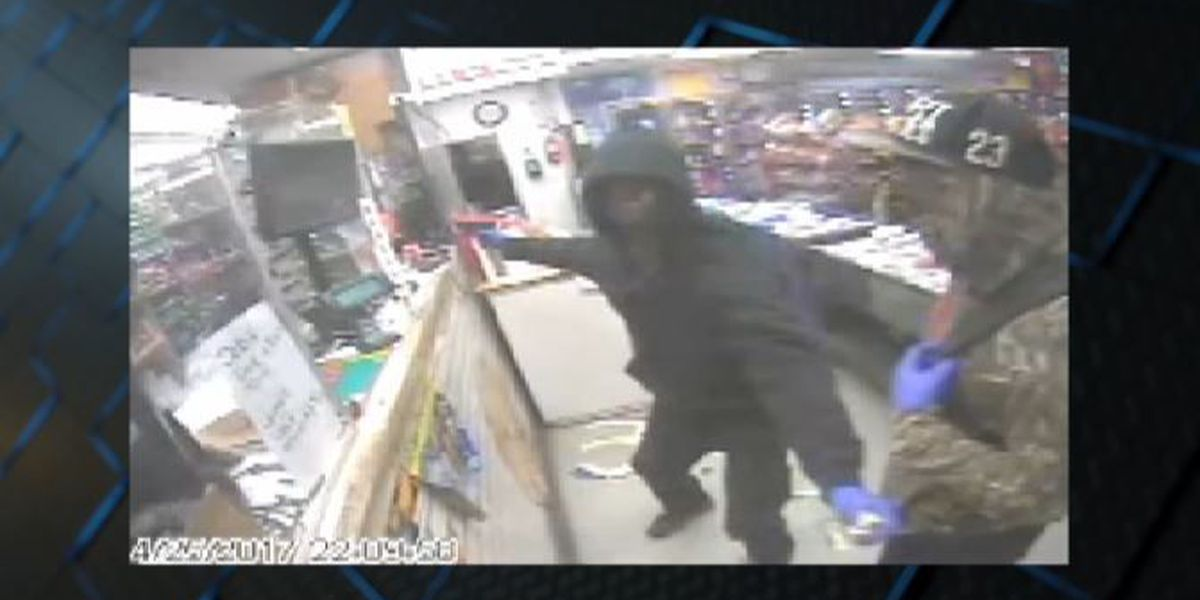 Armed robbery caught on surveillance video, suspects wanted by deputies