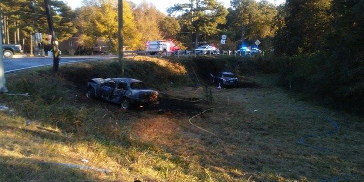 High-speed chase involving trooper ends in fiery crash