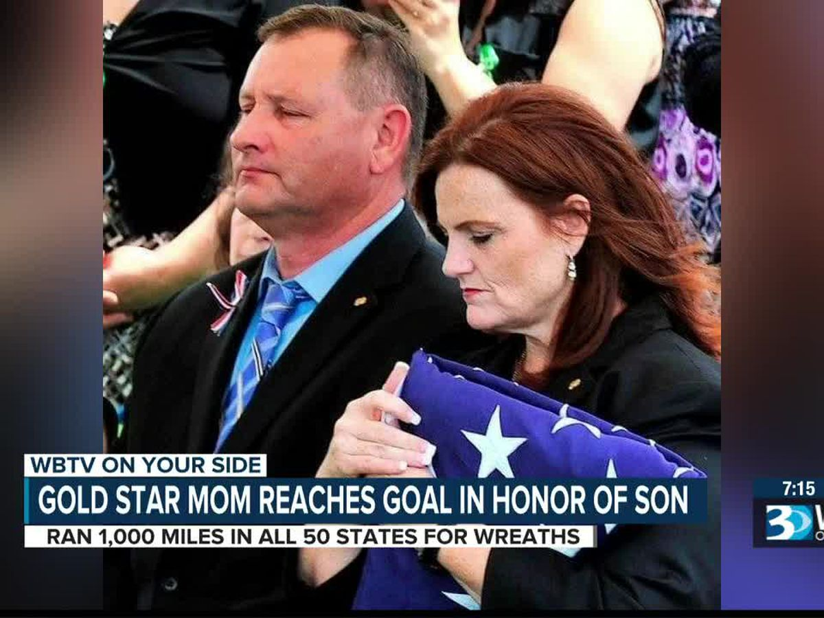 NC Gold Star mom finishes 1,000 mile run across country. What she found on her final step gave her chills.