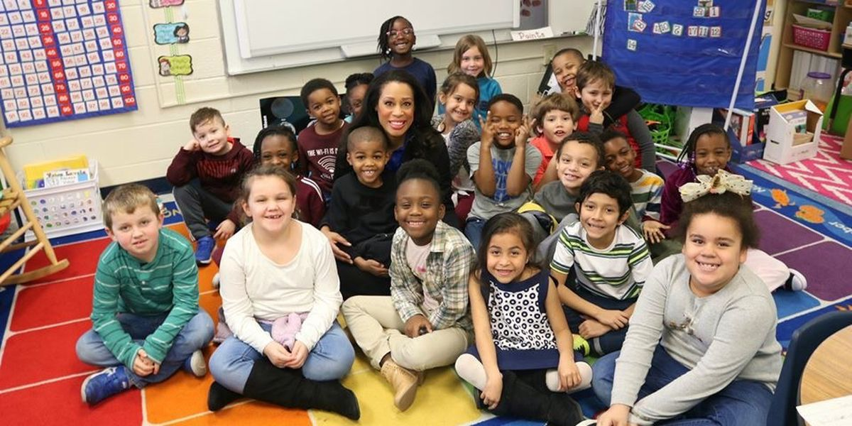 Volunteers help students celebrate Black History Month