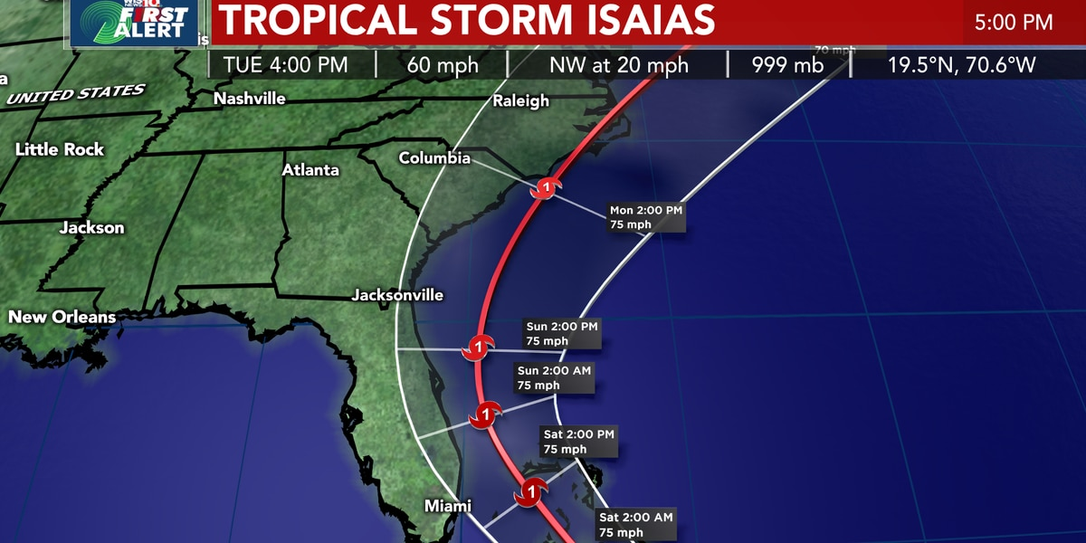 Bahamas, Florida brace for newly formed Hurricane Isaias