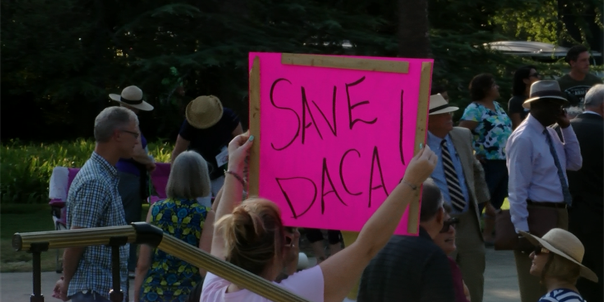 Dreamers, allies remain prayerful on State House grounds in support of DACA