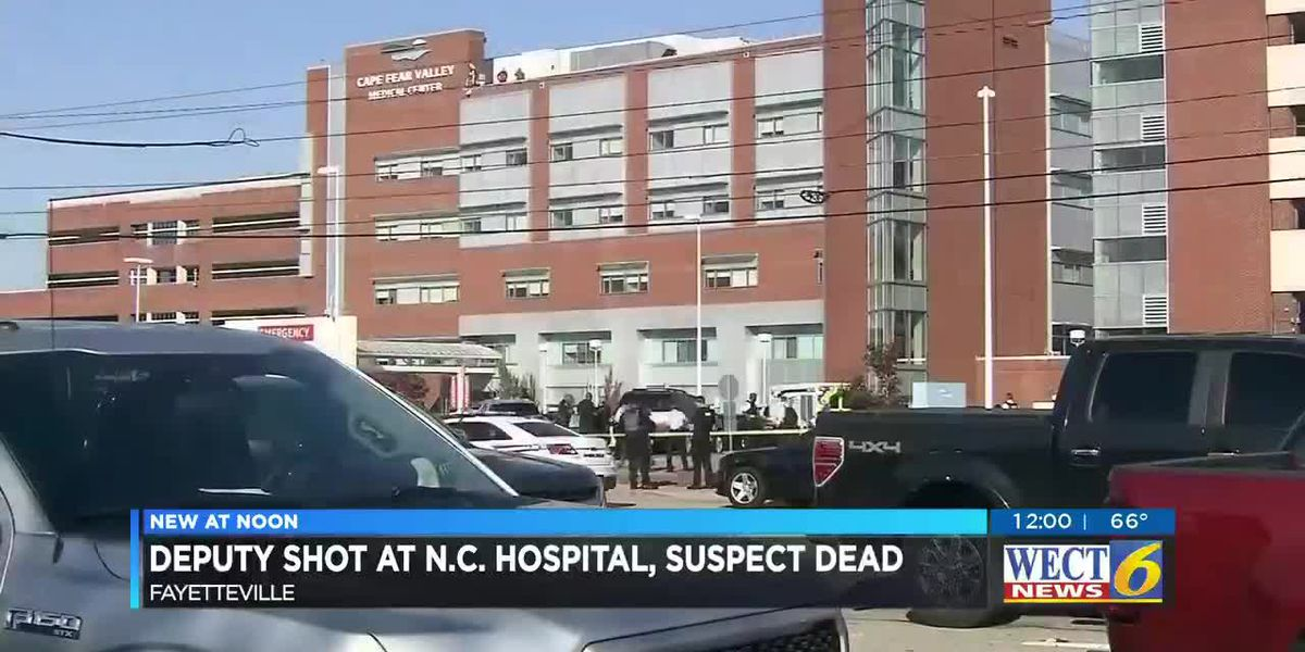 Suspect dead, deputy recovering after shooting at Fayetteville hospital