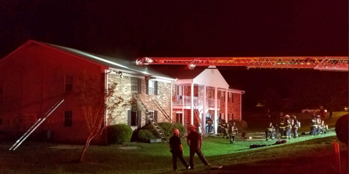 Family displaced after apartment fire in Columbia