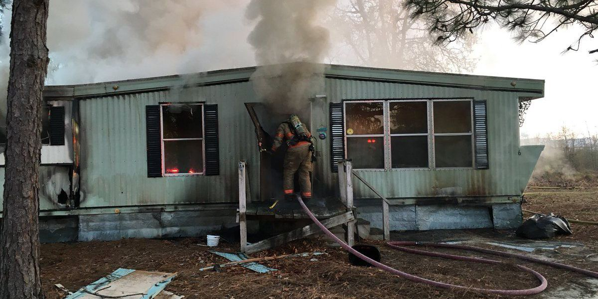 Two displaced by mobile home fire in Lexington County