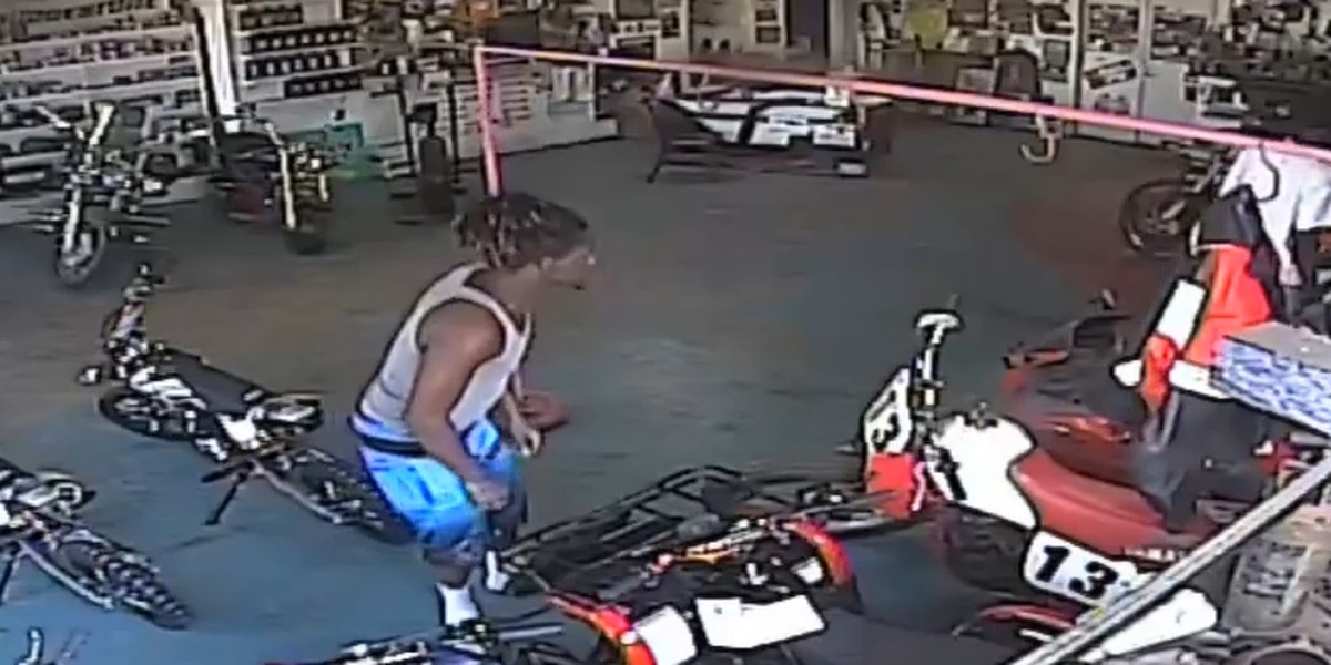 OCSO searching for suspects who stole dirtbike from cycle shop