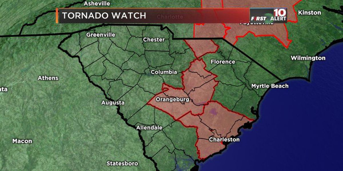 FIRST ALERT: Tornado watch for the Midlands expires; storms create damage in the Upstate